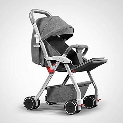 WLYL Cochecito de bebé Puede Sentarse y tumbarse Cochecito Plegable Ligero de absorción de Choque,Gray