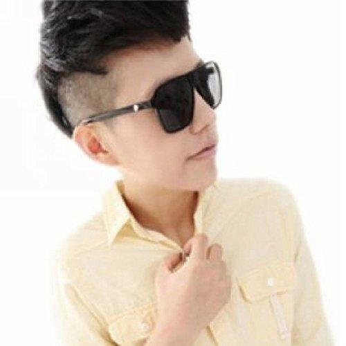 ZHH BXH BXH BXH BXH Driving Sonnencreme Persönlichkeit Boxen Augen Männer Sonnenbrillen 2018 Trend Sonnenbrillen Korea Trendy Brillen,schwarz,Sonnenbrille - Sonnenbrillen Korea Männer