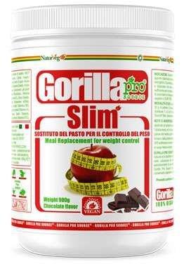 Naturveg gorilla slim - pasto sostitutivo veg - 900g gusto cioccolato