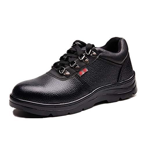 Senza marchio Scarpe da Esterno Puntali in Acciaio Scarpe Comode E Traspiranti per Lavori di Costruzione Scarpe da Lavoro di Sicurezza Leggere da Uomo (Size : US10.5/EU42/UK8.5/CN43)