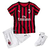PUMA ACM Home Baby-Kit Sponsor Logo with Socks, Maglia Calcio Unisex Bambini, Rosso (Tango Red/Black), 80