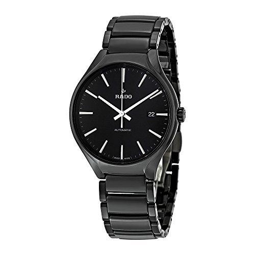 Rado R27056152 True Automatic Mens Watch - Black Dial by Rado