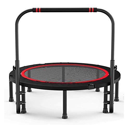 WZB Fitness Trampolin Verstellbarer N-förmiger Handlauf Stabile Sicherheit Geeignet für Erwachsene und Kinder, 3 Größen (Farbe: Schwarz, Größe: 101 cm)