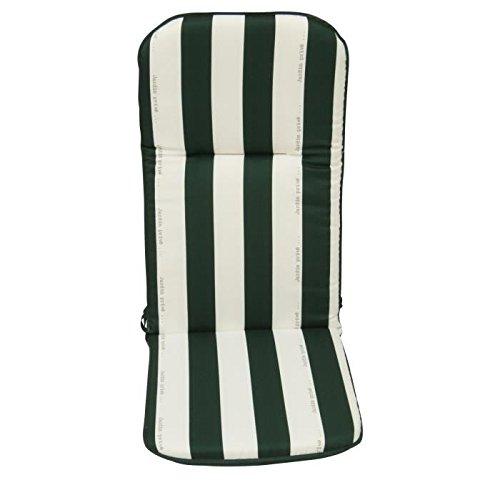 JARDIN PRIVE coussin pour fauteuil multipositions CANCALE Vert 117x46x5,5cm
