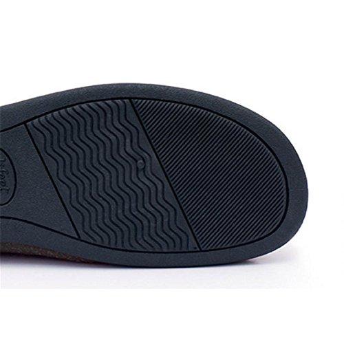 W&XY Pantofole di cotone per casa indoor comfort maschile caldo morbido cotone muto scarpe invernali 43