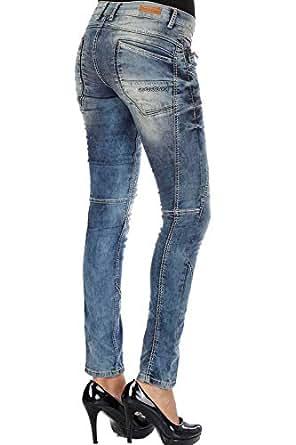 Cipo & Baxx Damen Jeans Hose Blau W25 L30
