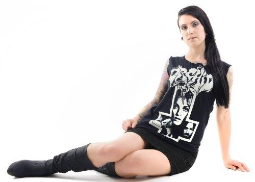 Orchid Manson Cross T-Shirt Schwarz