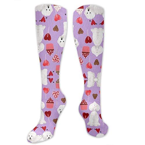 DGHKH Dogs and Dessert Unisex Knee High Sports Athletic Socks Polyester Tube Long Stockings