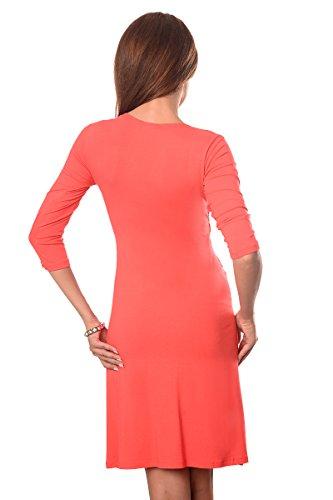 Purpless Maternity Herrlich V-Ausschnitt Kleid Mutterschaft Kleidung Top 4400 Coral