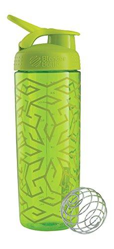 BlenderBottle–Elegante Shaker, unisex, Signature Sleek, Green Zen Gala, 820ml