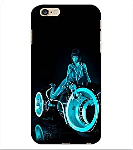 PrintDhaba Rider Girl D-1201 Back Case Cover for APPLE IPHONE 6S PLUS (Multi-Coloured)