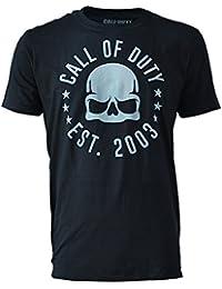 Call of Duty camiseta para hombre del cráneo tourdates negro de algodón