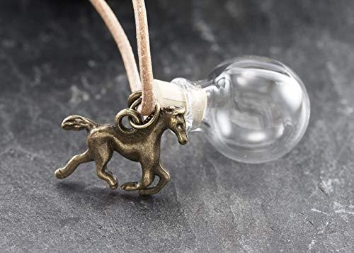 Wunschkugel Pferd mini bronze befüllbar personalisiert Tierhaarschmuck -