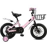 Bicicleta Niños Niña 14-16-18 Pulgadas Niño Montaña 4 5 6 7 8 9 10 Años De Edad Rueda Auxiliar (Tamaño: 18 Pulgadas)