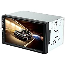 "KKmoon 7"" Reproductor Multimedia MP5 2 Din HD 1080P Radio Bluetooth Entretenimiento USB/TF In-dash FM Aux Entrada para Coche Universal"