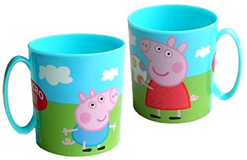 Pig Kostüm George - Javoli Peppa Wutz Peppa Pig Tasse Becher für Kinder mit Peppa & George 350ml