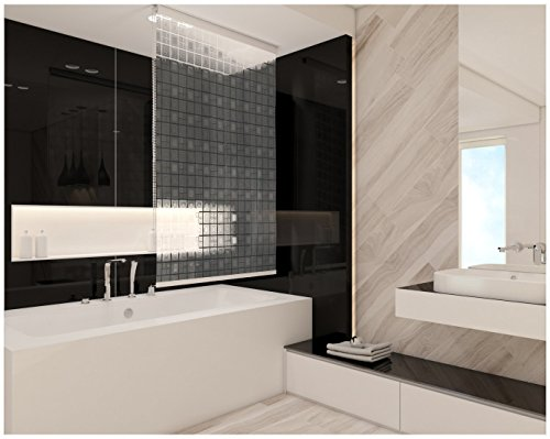 Duschrollo 4 Breiten 9 Designs zur Wahl