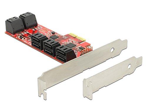 X4 Mit X8-steckplatz (DeLock 89384Karte für interne SATA-Ports, Adapter, PCIe, SATA, 6Gbit/s)