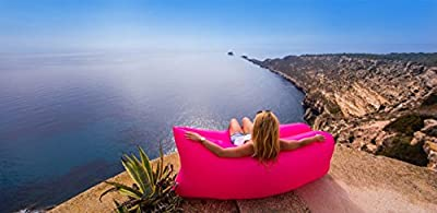 The OFFICIAL ChillaxAir from CORRLUA. High Quality Easy Inflate Air Lounger. 4 Seasons, Camp, Beach, Poolside, Parties, Playroom, Fishing, Garden, Festivals, Events. - low-cost UK light shop.