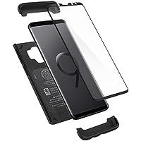 Spigen Coque Galaxy S9, Coque S9 [Thin Fit 360] Protection INTEGRALE avec Verre Trempé/Anti Rayure, Anti Choc Compatible avec Galaxy S9 - [Noir]