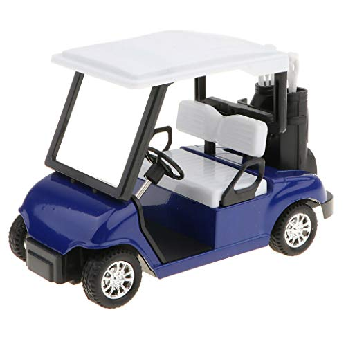 Dapei Mini Alloy Pull Back Golf Cart im Maßstab 1:20, Clubs Diecast Model Transportfahrzeug Nachahmung Spielzeug Überraschungsgeschenk für Kinder (Blau) (Club Cart Ladegerät)