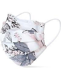 tanzmuster ® masque en tissu lavable 100% coton - OEKO-TEX 100 avec barrette nasale et ouverture pour filtre - Masque bouche nez reutilisables