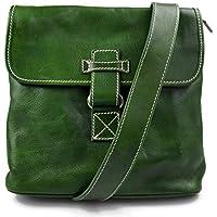 700caca3d Bandolera de cuero bolso hombre piel bolso de cuero verde bolso de espalda  bolso de piel