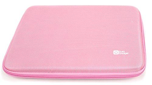 DURAGADGET Hartschalen-Etui mit Netzfach für das Aldi MEDION LIFETAB P10356 (MD 99632), E10311, S10345, Akoya E1234T sowie E10316 und E10312 Tablet (Rosa)