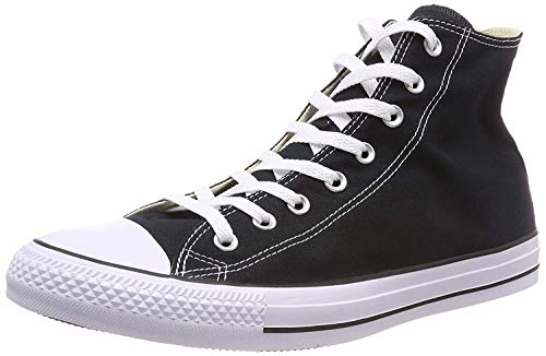 Converse Unisex Chuck Taylor All Star High Top Sneakers Black/White, US Men's 11 / Women's 13
