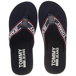 Hilfiger Denim Herren Stripe Tommy Jeans Beach Sandal Zehentrenner