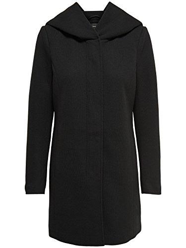 ONLY Damen Mantel Jacke SEDONA LIGHT COAT Parka Übergang Frühling (S, schwarz (Black))