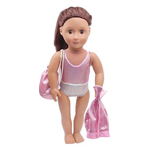 P Prettyia 3-teilig Mode Puppe Kleidung Badeanzug mit -