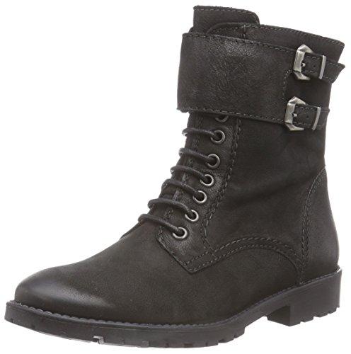 Tamaris 25236 Damen Combat Boots Schwarz (Black Nubuc 008)