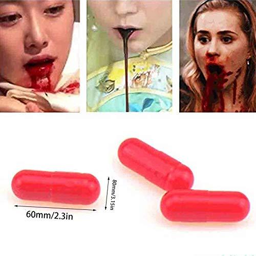 (IIfreesia Leichte Halloween Gefälschte Blutplasma Rotes Blut Blut Pille Cosplay Party Horror Lustige Prop Trick Spielzeug (rot))