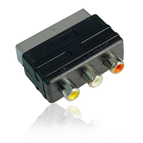 Act Mâle Vers 3 RCA Femelle A/V Vidéo Adaptateur Convertisseur Mini Adaptateur RCA Vers AV Pour TV DVD VCR