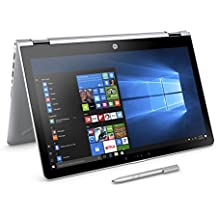 """HP 15.6"""" X360 2-in-1 Convertible Touchscreen Laptop, Intel Core I5-7200U Up To 3.1GHz, 8GB DDR4, 256GB SSD, DVDRW, Wireless LAN, HDMI, Bluetooth, Webcam, USB 3.1, Win 10, Active Stylus Pen Included"""