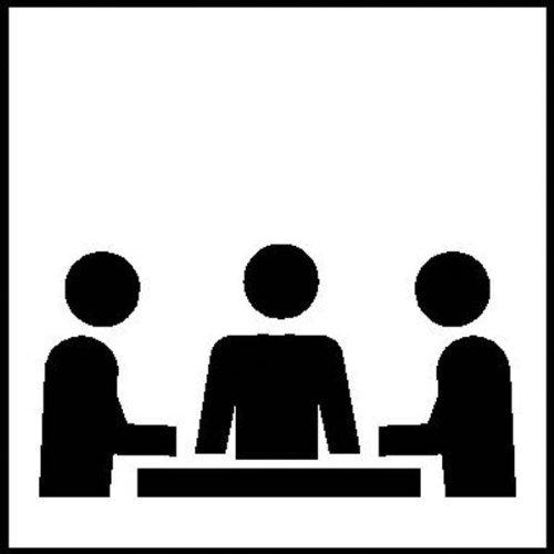 INDIGOS UG - Symbolschilder zur Raumkennzeichnung selbstklebend 10x10cm - Konferenzraum - Warnung - Sicherheit - Hotel, Firma, Haus