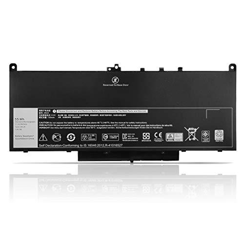 K KYUER 55WH MC34Y J60J5 Laptop Akku für Dell Latitude 12 E7270 P26S P26S001 Latitude 14 E7470 P61G P61G001 Ultrabook 0MC34Y J6OJ5 NJJ2H R1V85 451-BBSX 451-BBSY BBSU 242WD 1W2Y2 GG4FM WYWJ2 Battery