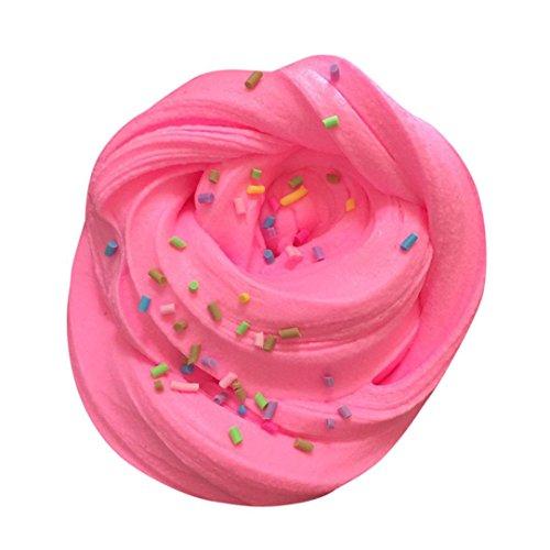 Chaud vendre ! Tefamore Fluffy Floam Stress parfumé à la menthe Relief No Borax Jouet de boue à jouet pour enfants (rose)