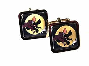 Tintin Chrome Cufflinks - Herge