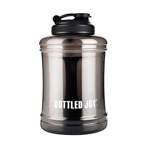 BOTTLED JOY Trinkflasche Sport BPA Frei - 2.5L Sportflasche Water Jug - Fitness Trinkflasche Auslaufsicher mit Tragegriff - Ideal für Gym Diät Bodybuilding Outdoor