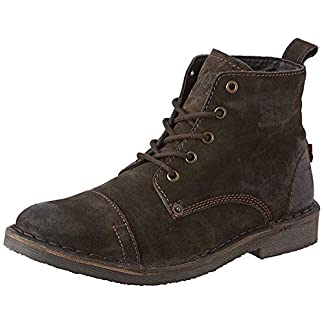 Levi's Track Dark Brown Mens Suede Mid Ankle Boots 17