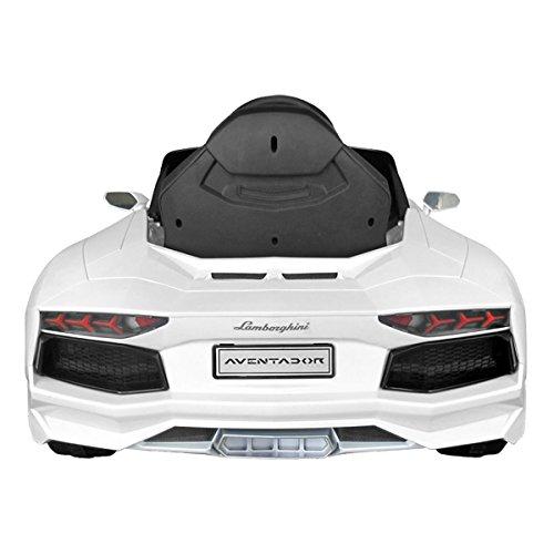 Lamborghini Aventador Rastar Licensed 6V Children's Kids Ride On Electric Remote Toy Car – White