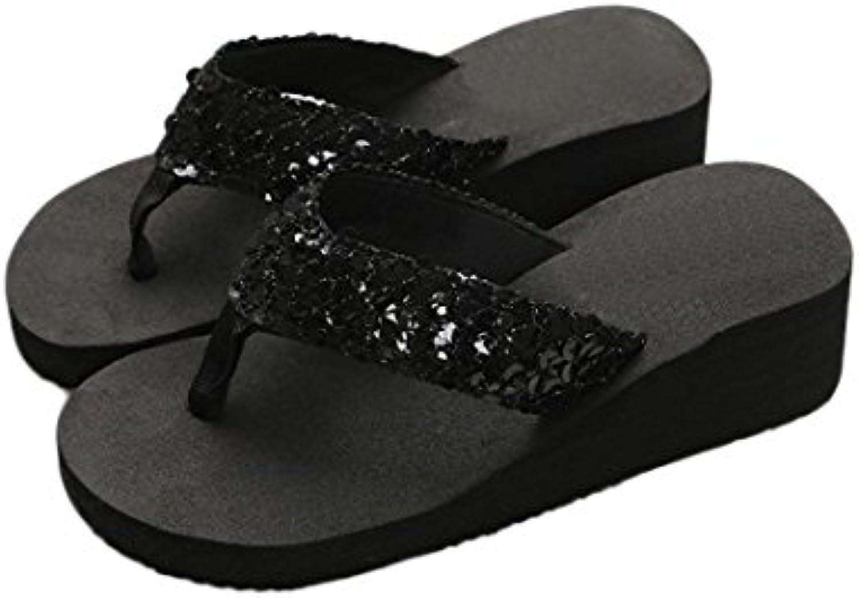 zycshang femmes paillettes summer paillettes femmes antidérapants sandales pantoufle indoor & outdoor tongs taille 5,5 et 7,5 d2a535
