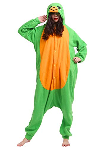 Jumpsuit Onesie Tier Karton Kigurumi Fasching Halloween Kostüm Lounge Sleepsuit Cosplay Overall Pyjama Schlafanzug Erwachsene Unisex Schildkröte for Höhe 140-187CM