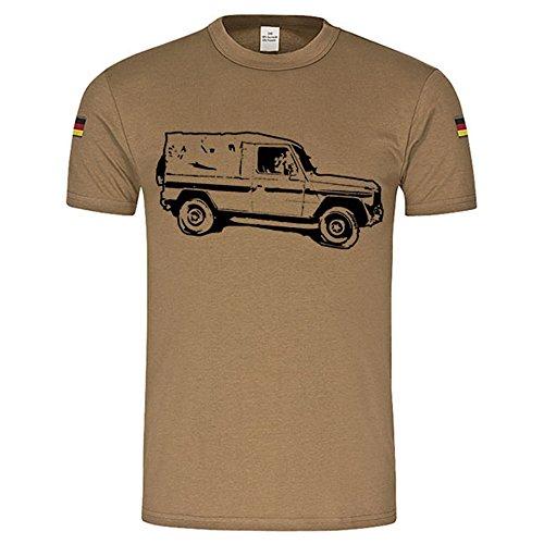 Copytec BW Tropen G Modell Tropenhemd Wolf Geländewagen Bundeswehr Militär Fahrzeug Oldtimer Unterhemd Tropenshirt nach TL Ohne Brustklett (Herren XXXL, Khaki) Modell Tl