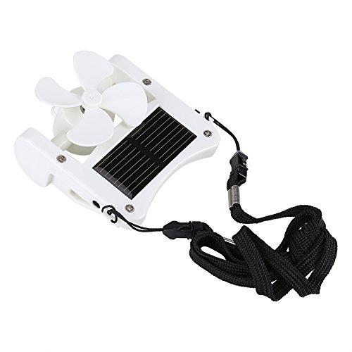 , tragbare solarbetriebene Hut Fan einfach zu hängen oder Clip für Bergsteigen Camping Wandern ()