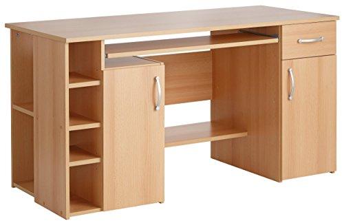4129 - Computertisch / Schreibtisch / PC-Tisch in Buche