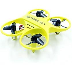 Laurelmartina L6065 Mini RC Quadcopter Drone controlado por Infrarrojos 2.4GHz Aviones con LED Regalo de cumpleaños de luz para niños Juguetes