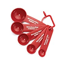 Lifetime Brands KC057OHERA Measuring Spoon Set, Red, 5-Pc. - Quantity 3